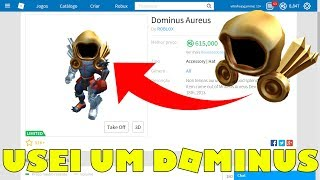 HOW TO PUT ANY ITEM OF THE CÁTALOGO IN YOUR AVATAR FOR FREE ON ROBLOX AND USED A DOMINUS