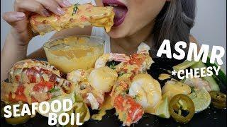 SEAFOOD BOIL with CHESSY SAUCE | ASMR Eating Sounds | N.E Let's Eat