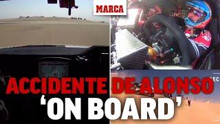 El accidente de Fernando Alonso visto desde la cámara 'on board' I MARCA