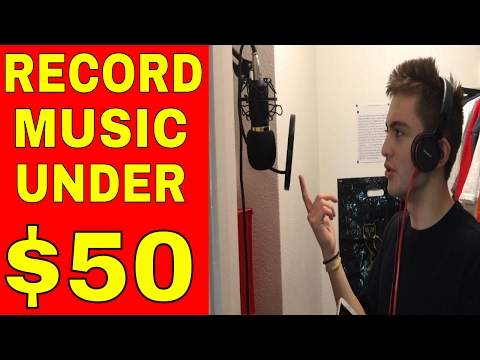 CHEAPEST MUSIC RECORDING STUDIO | How To Record Music/Podcast Under $50 (3 Items)