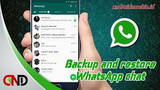 Cara backup dan restore seluruh chat WhatsApp tanpa aplikasi