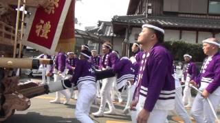 2016堺市南区(上神谷地区)だんじり祭り 泉田中、入魂式⑮お披露目曳行...
