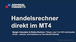 Handelsrechner im MetaTrader: Margin und Risiko kalkulieren, direkt auf IHR Konto bezogen
