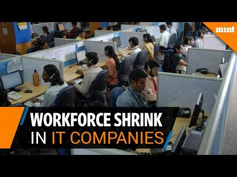 Workforce shrink in the Indian IT industry