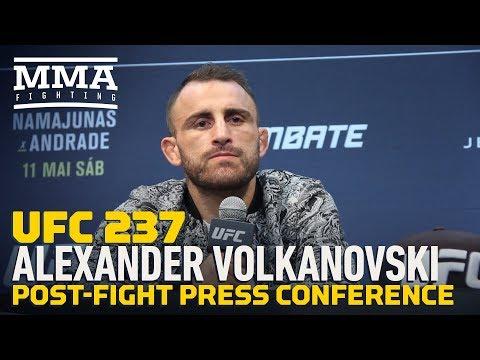 UFC 237: Alexander Volkanovski Post-Fight Press Conference - MMA Fighting