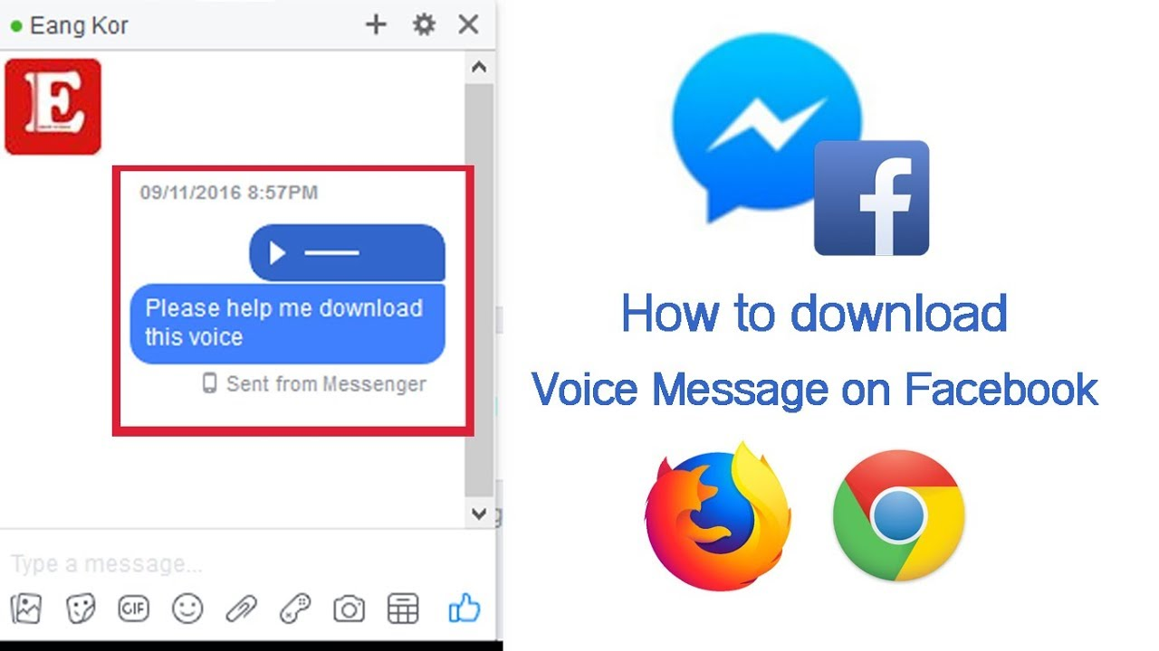 [New] How to download voice message on facebook chat