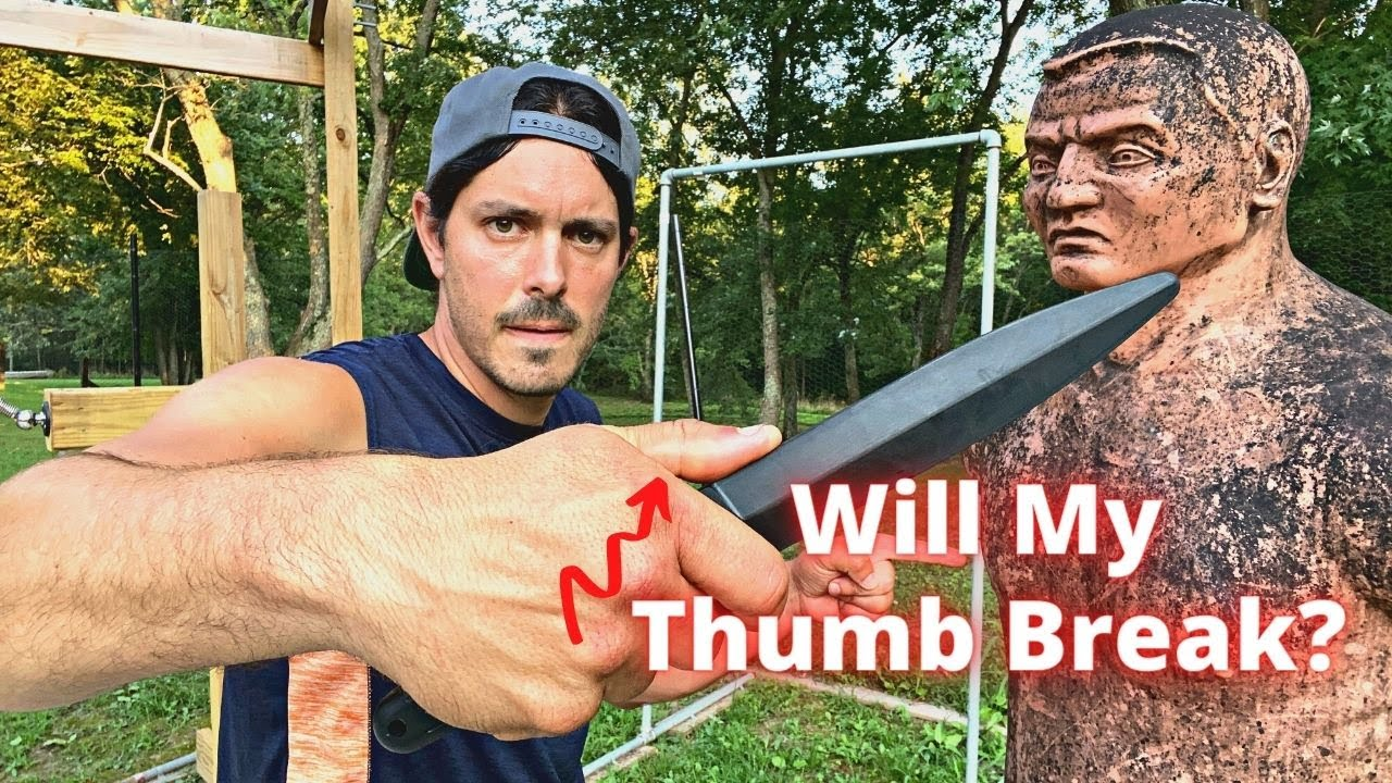 WILL MY THUMB GET BROKEN | Knife Fighting Techniques in Saber Grip | Kali Escrima Arnis