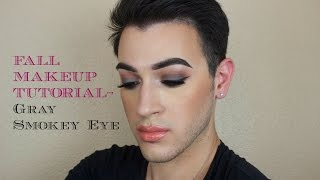 Talk Through: Fall Makeup Tutorial - Gray Smokey Eye | Mannymua