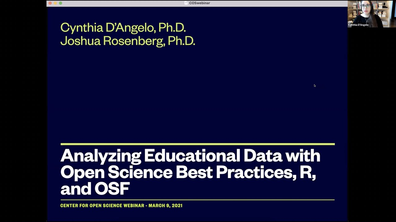 Analyzing Education Data with Open Science Best Practices, R, and OSF