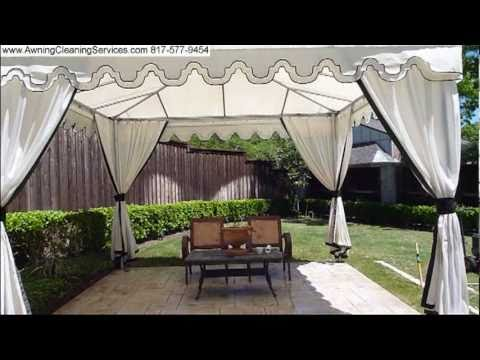 Awning Cleaning Removing Mold Mildew Dirt From Canvas Cabana DFW TX