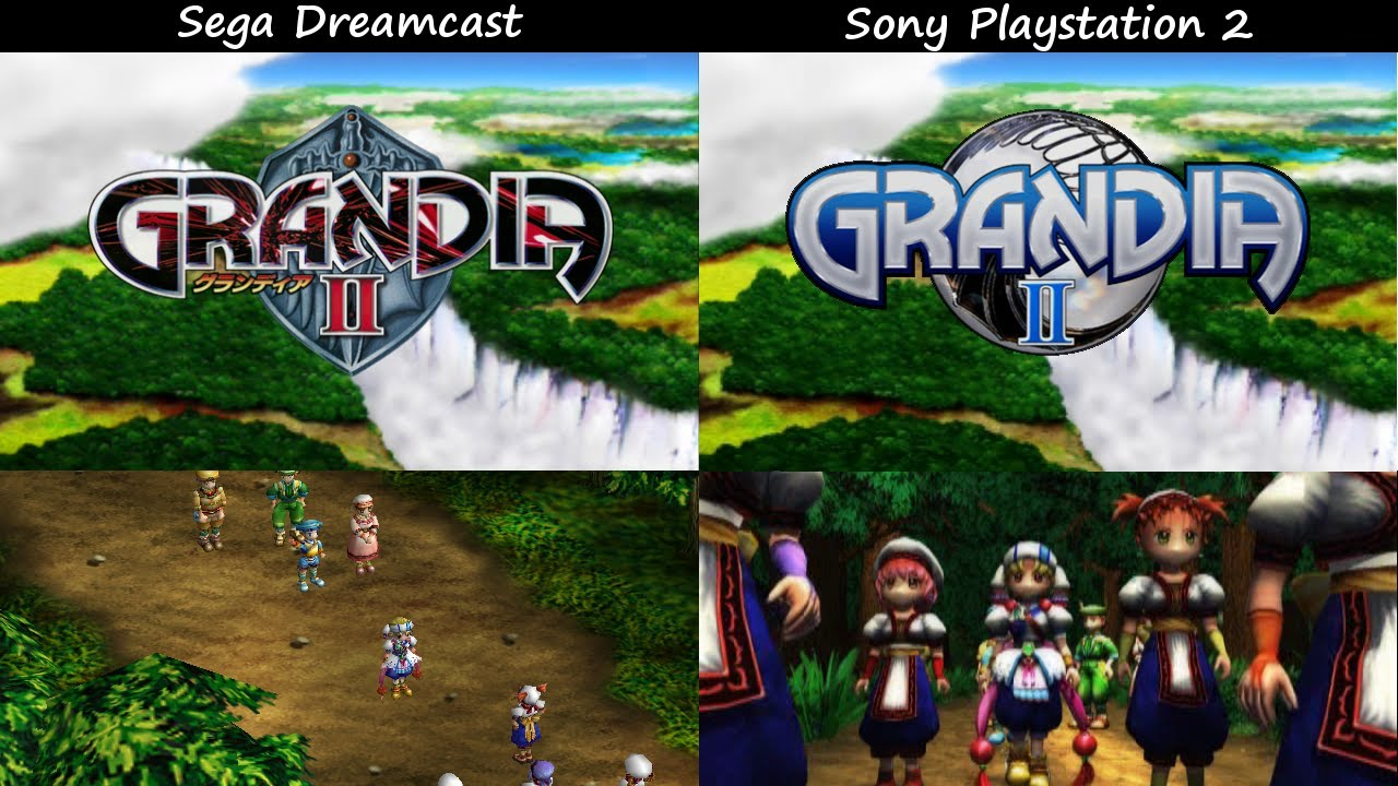 Grandia II: Dreamcast vs. PS2 Intro Cutscene Comparison ...