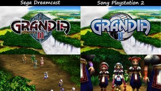 Grandia II: Dreamcast vs. PS2 Intro Cutscene Comparison