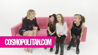 Repeat youtube video Little Girls Give Hilary Duff Advice | Cosmopolitan