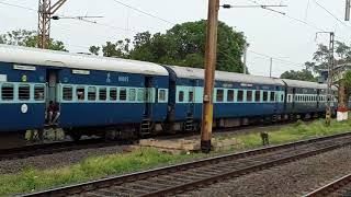 Shealdah Rampurhat Maa Tara Express at Gangpur Station Indian Super Heroes Train
