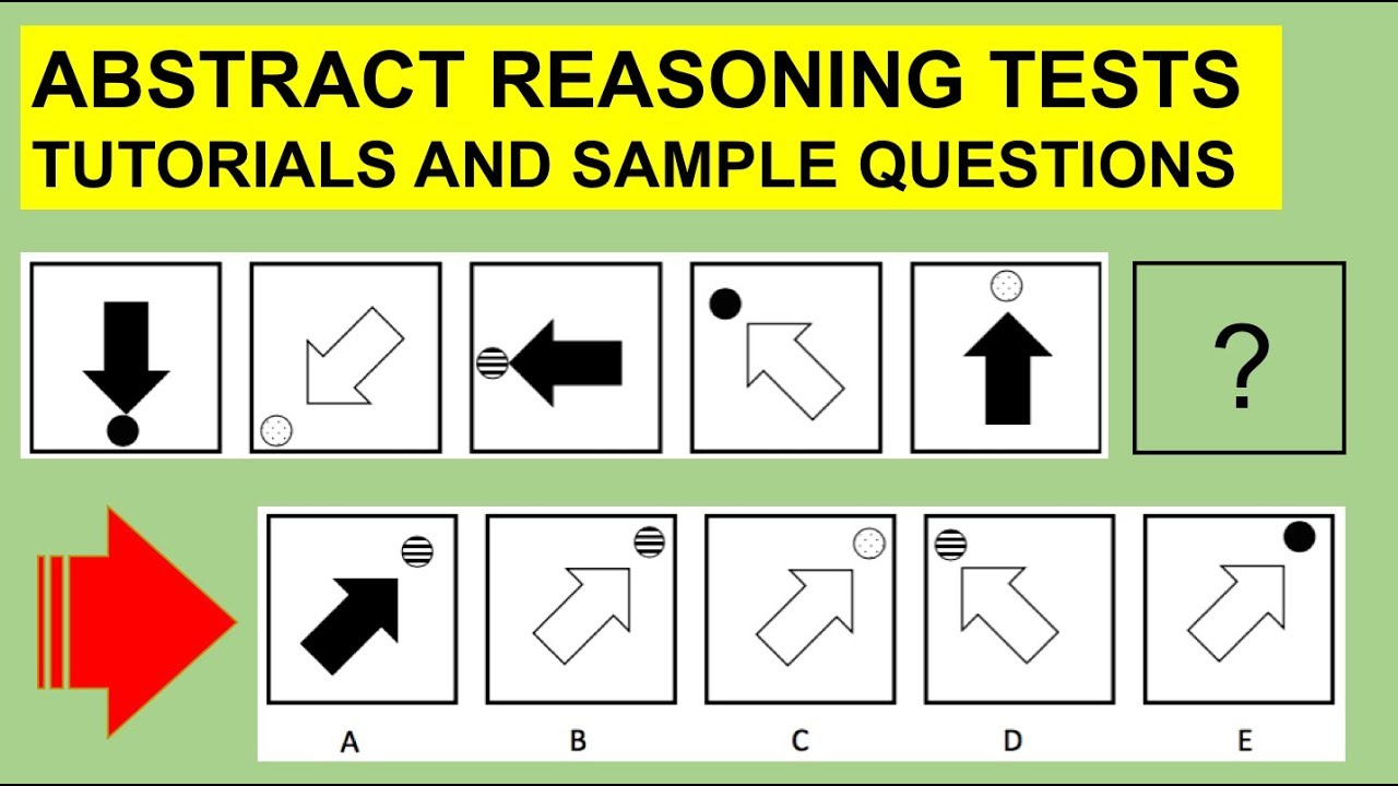 hight resolution of ABSTRACT REASONING TESTS Questions