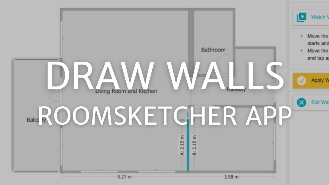 Draw Walls Roomsketcher App Mac Windows Youtube