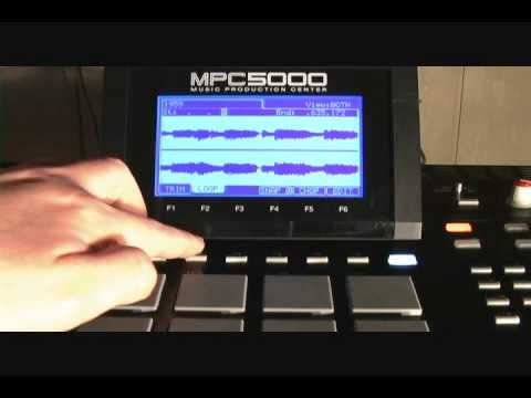 SAMPLE CHOPPING WORKFLOW  ON THE AKAI MPC 5000