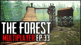 the forest multiplayer ep 33 sky fortress aka k cabin