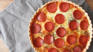 How To Make Pepperoni Pizza Pie - By One Kitchen Episode 416