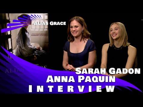 "ANNA PAQUIN & SARAH GADON TALK ""ALIAS GRACE"""