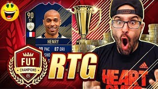 LET'S GOOO!!! WE GOT ICON HENRY THE GOAT!!!!  - FIFA 18 Road To Fut Champions #175 RTG
