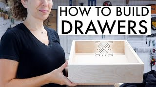 How To Build Simple Drawers // Woodworking // Kerfmaker