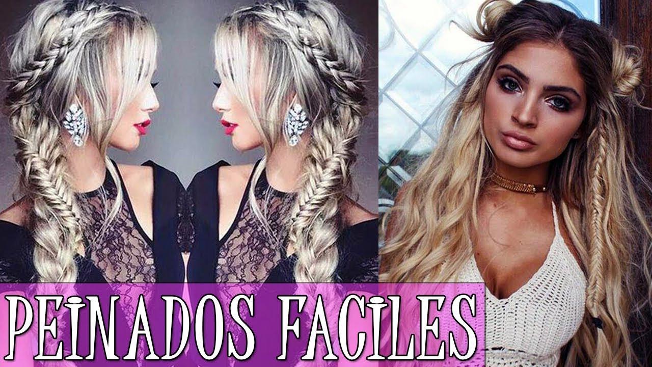 Peinados Faciles Y Rapidos 2018 Peinados De Moda 2018 Youtube