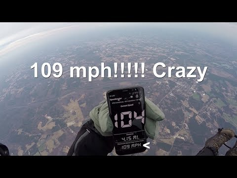 Flying 109 MPH on my Paramotor!!