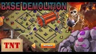 BASE DEMOLITION GOBOLALOON CLASH OF CLANS TH9