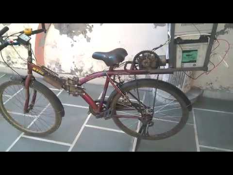 Pedaling - motor hybrid bicycle mechanical engineering project by Gaurav Kumar