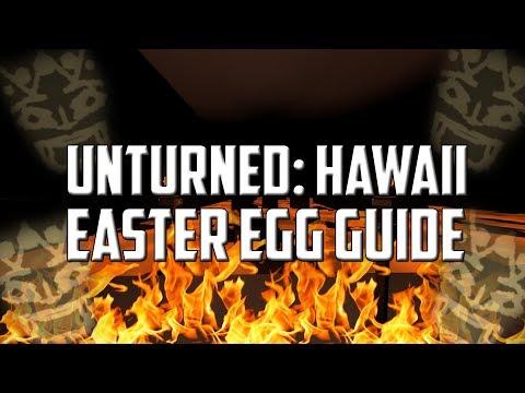 Unturned - Hawaii Easter Egg Guide (Mega Lava Zombie!)