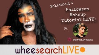 Following a Halloween Makeup Tutorial (Live)