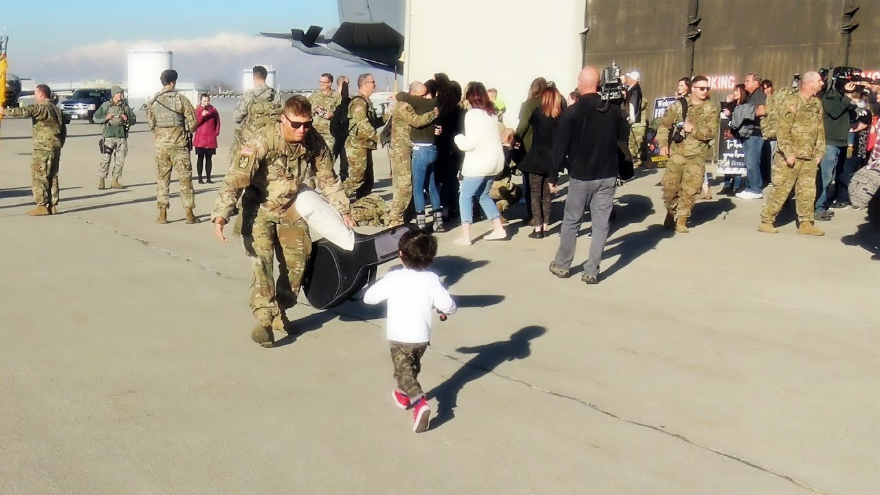 cc90f7de37efd Priceless Father Son Reunion - Epic Soldier Homecoming - YouTube