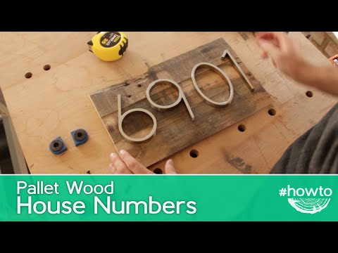 How to Make Pallet Wood House Numbers