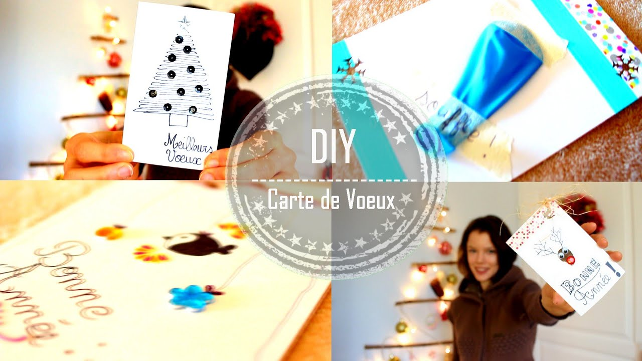 diy fabriquer des cartes de v ux claire youtube. Black Bedroom Furniture Sets. Home Design Ideas