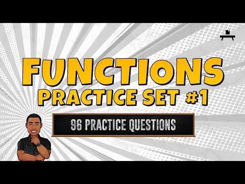 Algebra: Functions Practice Set #1