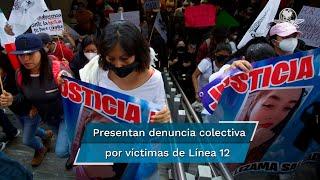 Para presentar la denuncia, los pocos familiares que participaron partieron del Ángel de la Independencia hasta la sede de la FGR