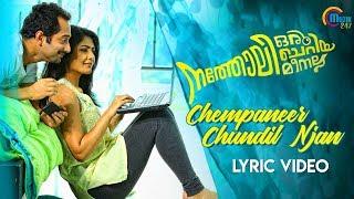 Natholi Oru Cheriya Meenalla   Chempaneer Chundil Njan Lyric   Fahadh Faasil   Unni Menon   HD