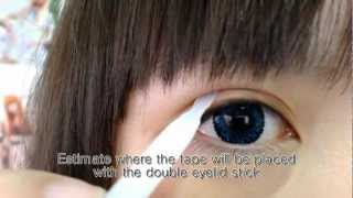 「Mono/tapered to parallel eyelids」4 different ways