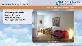 Berlin: Ferienappartment in Berlins City nahe Kurfürstendamm, Messegelände - FeWo-direkt.de Video