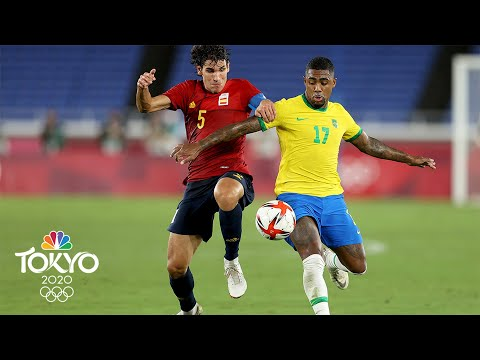Download Brazil vs. Spain   Tokyo Olympics 2020: Men's Soccer Gold Medal Highlights   NBC Sports