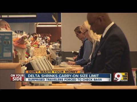 Delta shrinks carry-on size limit