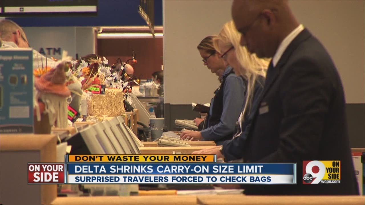 Delta Shrinks Carry On Size Limit Youtube
