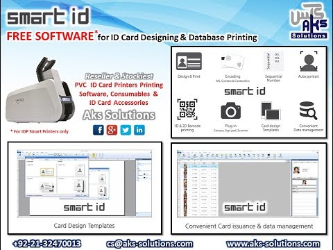 Id Card Designing On Free Id Card Software Smartid Youtube