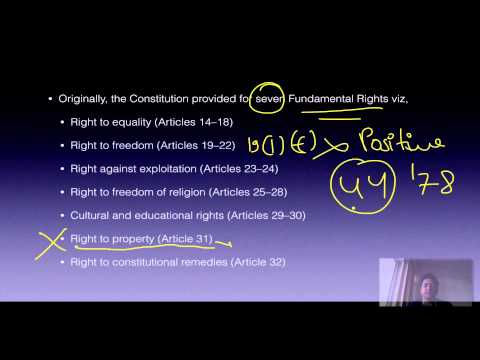 Polity Lecture for IAS UPSC 3.1 Fundamental Rights