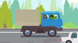 Cartoons For Kids - Cars, cars - Heavy Truck VS Van - Learn Trucks and Cars for Kids and Toddlers