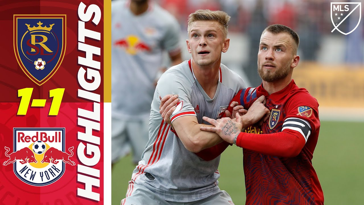 Real Salt Lake 1-1 New York Red Bulls | RSL with a Last-Minute Point! | MLS HIGHLIGHTS
