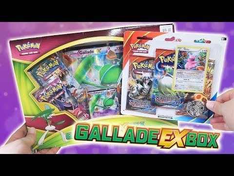 Opening a Pokemon Gallade-EX Box + Ditto Pikachu Promo Pack!
