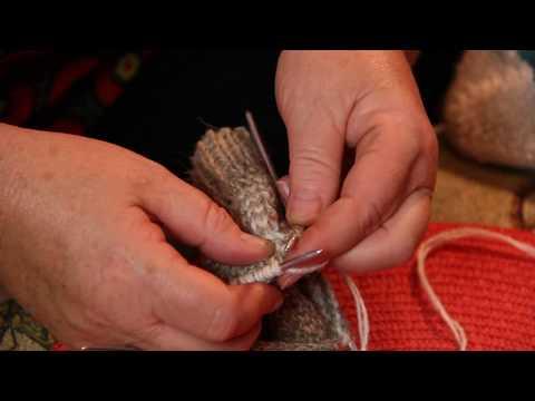 Как вязать носок после пятки спицами