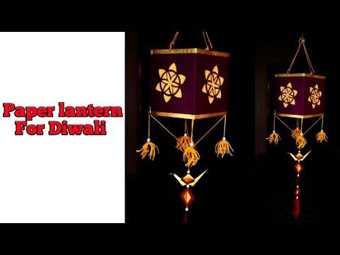 Paper lantern for Diwali festival || Akash kandil || DIY paper lamp